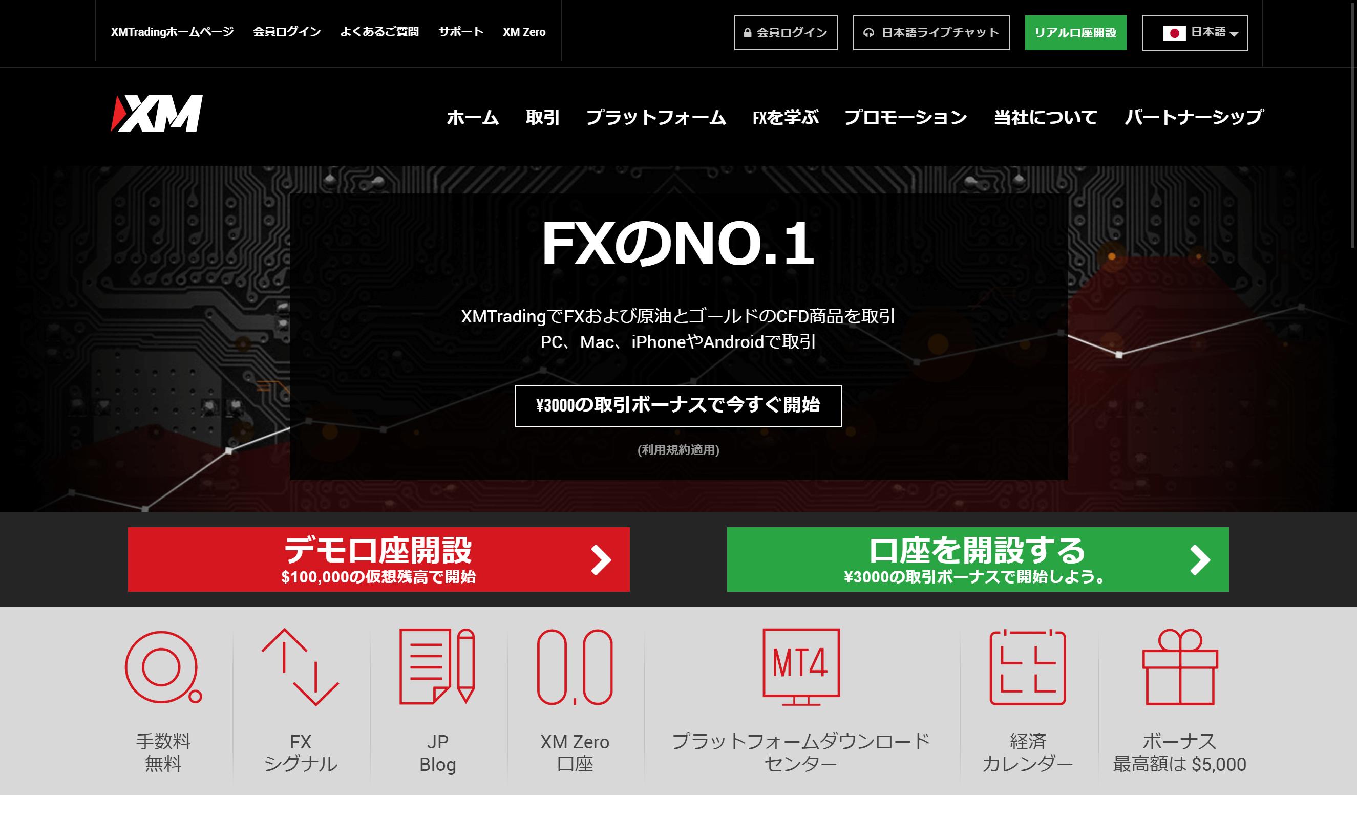 無料のXM口座の開設